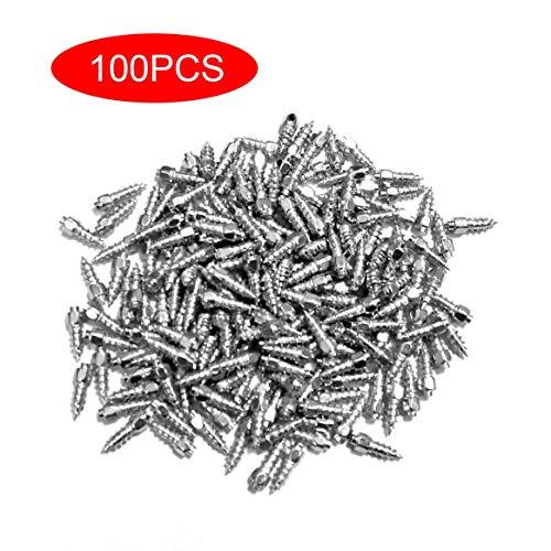 Kongqiabona-UK 100 Piezas de Rueda de Clavo de Acero de tungsteno Antideslizante neumático de Clavo Perno de neumático Duradero Coche ATV Emergencia de Invierno
