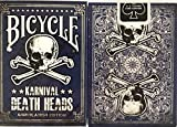 Bicycle Blue Karnival Death Heads Annihilation Edition Playing Cards