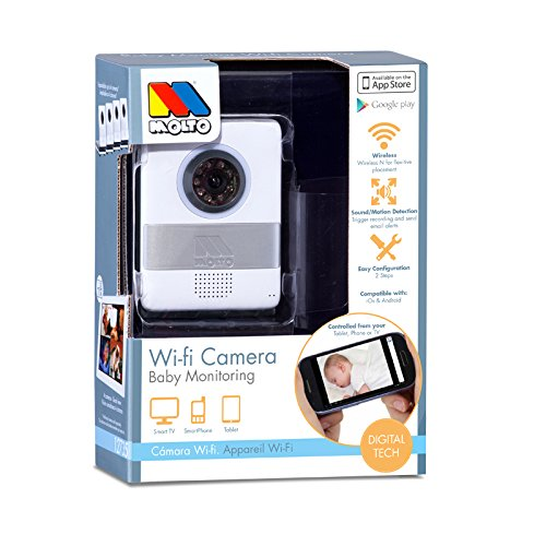 Molto 14753 - Cámara de vigilancia WiFi, color blanco