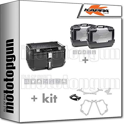 KVE58B KGR33PACK2 - Maletín con portabicicletas y portaobjetos laterales (compatible con Honda CB 500 X 2015 15 2016)