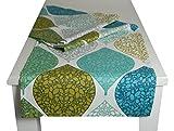 """beties """"Momente"""" Tischläufer ca. 40x150 cm Tischband in interessanter Größenauswahl hochwertig & angenehm 100% Baumwolle Farbe (applemint)"""