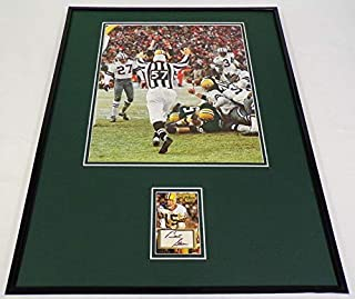 Bart Starr Facsimile Signed Framed 16x20 Ice Bowl Photo Display Packers
