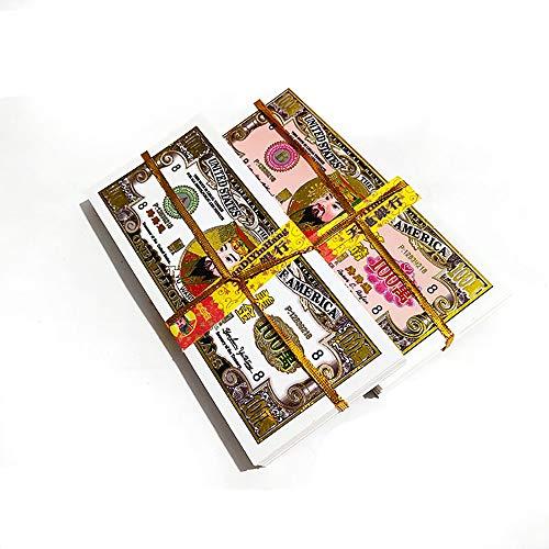 SHPEHP 450 US-Dollar Sterling Papier - Ahnengeld - Dollar Hölle brennende Papier Banknoten, Opfergaben, Beerdigung, Ching Ming Festival Geld, 7 x 3 Zoll-A