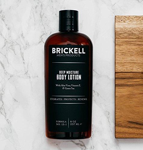 Brickell Men's Products Lait Corps Hydratation Profonde - Naturel et Bio (Parfumé, 8 onces)