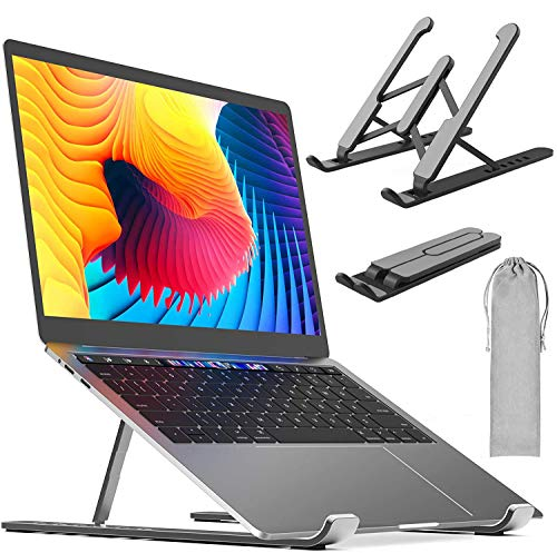 JAMETAI Laptop Stand 6 Levels of Height Adjustment Laptop Stand Laptop Holder Stand for Laptop 8-15 Inch Laptop (Black)