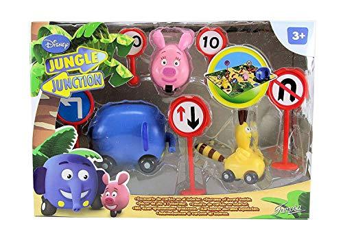 Erpj famosa- Disney–700009062–Figur–EN Route für die Jungle–3Figuren + kleine Circuit Karton