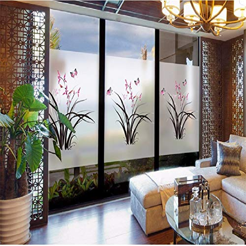 Muurstickers waterdicht raamfolie decoratieve vlinder liefde huis mat ondoorzichtig statische privacy balkon badkamer stickers glas sticker