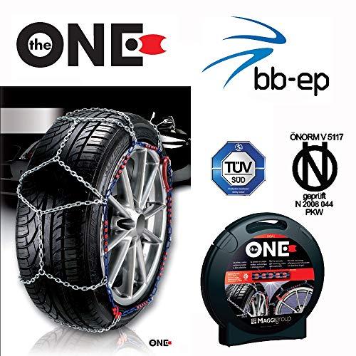 Maggi Group Schneeketten The One für die Reifengröße: 195/65 R15 mit eine Kettenstärke von 9 mm - Freigaben: Ö-Norm 5117, CUNA, TÜV
