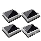 Solar Deck Lights ,Oriental Forest LED Dock Lighting Outdoor Waterproof Solar Lights Outdoor Decorative for Steps Stairs Pathway Walkway Driveway Pier Porch Auto ON/Off 4 Pack (Warm White)