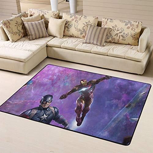 Zmacdk Avengers Infinity Alfombra para dormitorio infantil con diseño de Los Vengadores Infinity, 150 cm x 240 cm