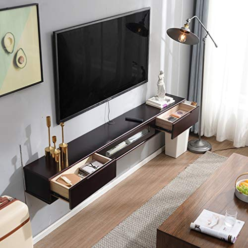 Kabinet TV Console Wall Mounted Media Chest Sycamore Houten Kast Drijvende TV Shelf met 2 laden Modern minimalistisch meubilair Multifunctionele Locker meerdere kleuren