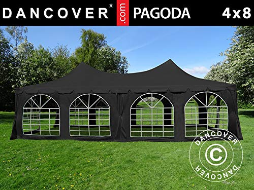 Dancover Partytent Pagoda 4x8m, Zwart