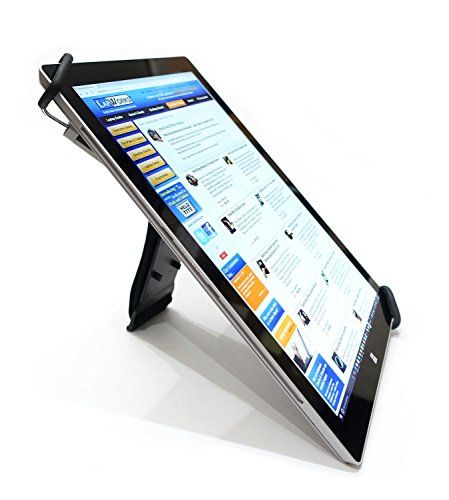 LapWorks Gripzilla Pro for iPad Pro 12.9, Surface Pro, Surface Book and Most 11.5 to 15 inch Tablets, Soft Neoprene Handle and Pop Out Stand
