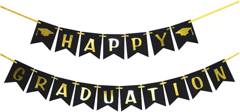 PRETYZOOM We OFFer at cheap prices Happy Graduation Banner with Grad Max 61% OFF for Cap P