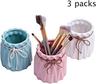 Pen Holder - Ceramic Pen Holder, Makeup Brush Storage Bucket, Desktop Storage Box Decoration, Can Be Used As A Girlfriend, Wife's Gift