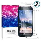Ycloud [3 Pack] Protector de Pantalla para Samsung Galaxy S6 Active,[9H Dureza/0.3mm],[Alta Definicion] Cristal Vidrio Templado Protector para Samsung Galaxy S6 Active
