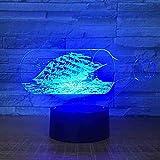 Lámpara de mesa de botella de deriva colorida 3D para sala de estar Atmósfera de dormitorio Lámpara de escritorio 3D Decoraciones navideñas Led pequeñas luces nocturnas