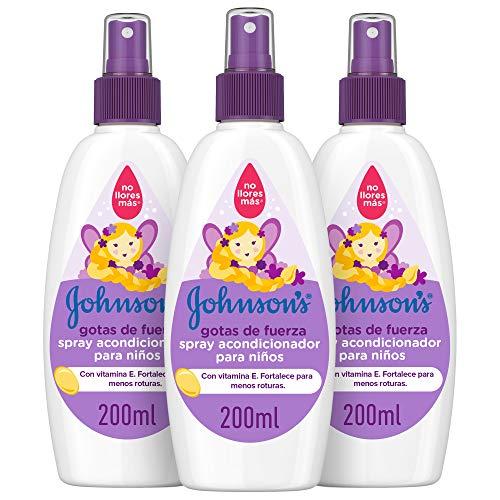 Johnson's Baby 9288900 Gotas de Fuerza Acondicionador en Spray para niño (Pack de 3)
