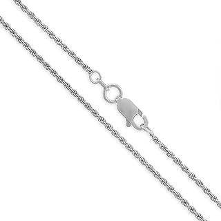 سلسلة أصلية من الفضة الإسترلينية حبل من الفضة الإسترلينية مُضفّر ملتوي من الألماس بطول 1.5 مم - 5.5 مم، 40.64 سم - 76.2 سم...