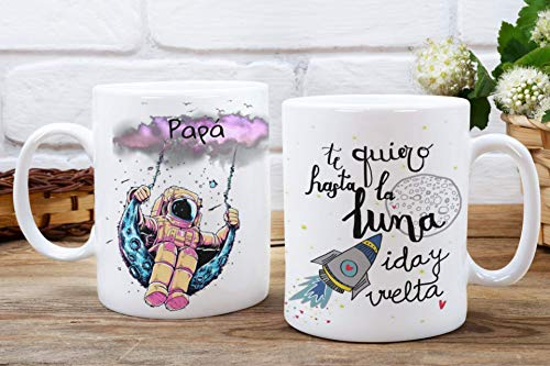 Taza Papá te quiero hasta la luna