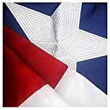 VSVO Texas Flag 3x5 ft - Durable 240D Oxford Nylon Outdoor TX Flags- UV Protected, Embroidered Stars, Sewn Stripes, Brass Grommets Outside US Flags.