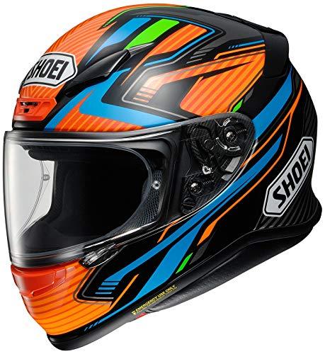 Shoei Helm NXR Stab TC-8 schwarz orange blau Motorradhelm Integralhelm, S