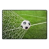 iRoad - Alfombra para sala de estar o portería de fútbol (78 x 50 cm), multicolor, 31x20 in