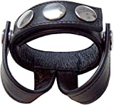 Mister B Leather Cockstrap With Two Ball Straps -