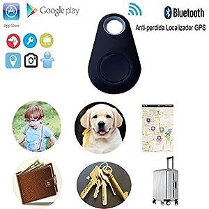 immagine di ÁpexTech - Dispositivo localizzatore GPS Wi-Fi anti-smarrimento per telefoni iOS, Android 4.3, animali domestici, iPhone 4s/5/5s/6/6s/6 plus, iPad, iPod, Samsung, LG, Sony, STC, con allarme intelligente Bluetooth 4.0, wireless, colore: nero