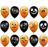 THE TWIDDLERS 100 Globos de Latex para Fiestas de Halloween - Negros y Naranja - Decoración Fiestas