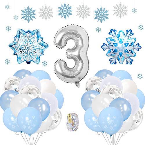 SPECOOL Frozen 3 Años Globos Decoración Cumpleaños Niña, Globo Fiesta de Globos...