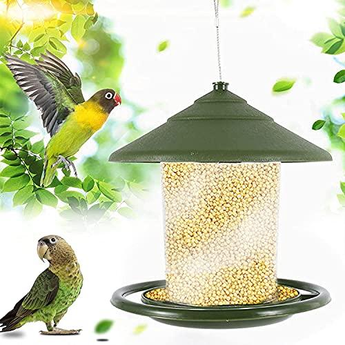 WXking Alimentador de Aves Silvestres Colgantes para Exteriores, alimentadores de colibrí, alimentador de Semillas para pájaros de Patio de jardín al Aire Libre