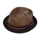 DASMARCA Mens Summer Pork Pie Straw Hat - Nico Bronze M