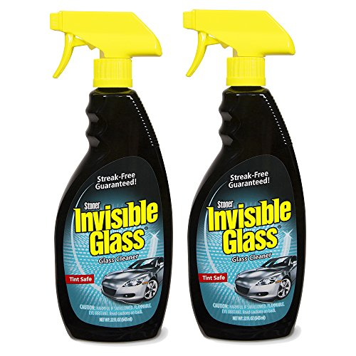 Invisible Glass 92164-2PK 22-Ounce Premium Glass Cleaner and Window Spray for Auto and Home Provides a Streak-Free Shine on Windows, Windshields, and Mirrors is Residue and Ammonia Free and Tint Safe