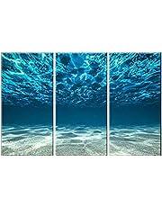 Blue Ocean Sea oljemålning oljemålning Hang väggen konstverk för Homes 3 Panel Canvastryck Seaview Undersida Bilder Painting