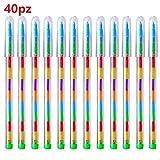 40pz Pastelli Bambini 11 Colori Penne Colorate Divertenti Regalino Pensierini Gadget Festa Compleanno Bambini per Bomboniere Battesimo Natale