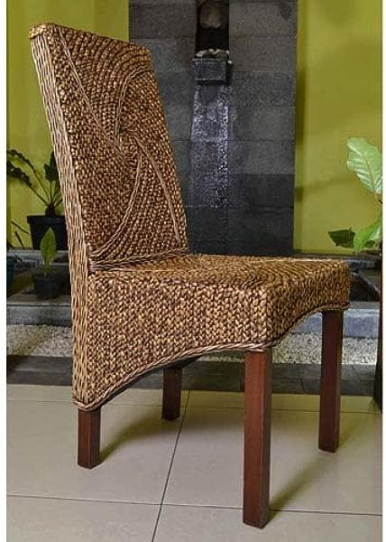 International Caravan SG 3305 1CH IC Furniture Piece Lambada Hyacinth Spiral Design Chair