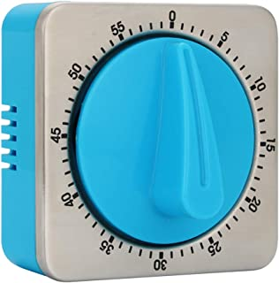 60 Minute Countdown Kitchen Timer Magnetic Stainless Steel Timing Mechanical for Home Baking Cooking Kitchen Housework Office Meeting Games.(Blue Color)