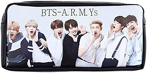 Fancyku® Kpop BTS Bangtan Boys Pencil Case BTS Pouch Coin Bag School Supplies BTS Stationery Gift Zipper Bag (H11)
