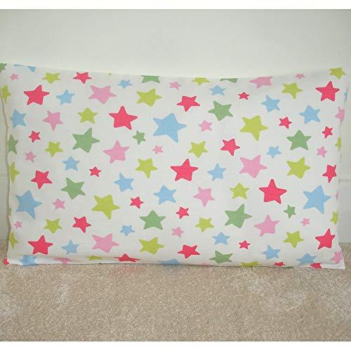 Toll2452 Funda de almohada Cath Kidston de tela para cojín con estrellas fugitivas, rojo, rosa, azul, verde