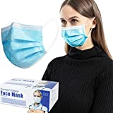 DXLOVER Face Masks, Disposable 3 Layer Face Mouth Cover Protection Mask, 50 Pack/Box