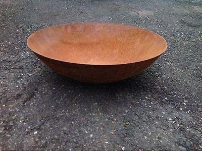 Zen Man Fire bowl in natural rust (50 cm diameter) 50 x 50 x 14 cm 1.8 mm by Zen Man
