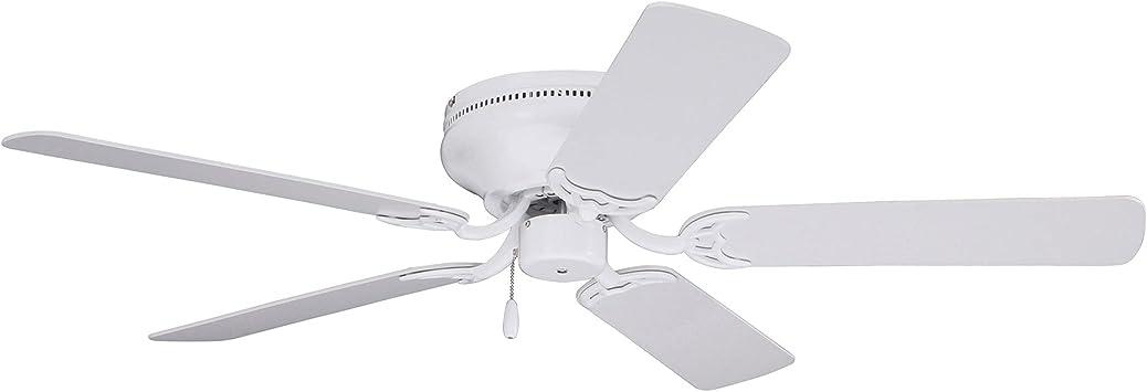 Emerson Ceiling Fans Cf805sww Snugger 52 Inch Low Profile Hugger Ceiling Fan Light Kit Adaptable Appliance White Finish Ceiling Fans Amazon Canada
