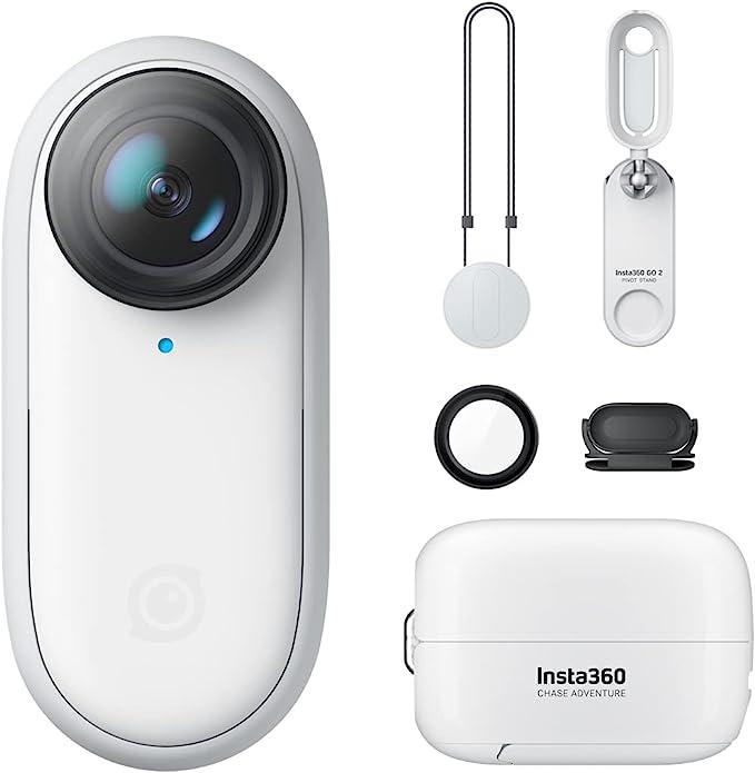 208 opinioni per Insta360 GO 2- Piccola videocamera d'azione, pesa 27 gr, impermeabile,