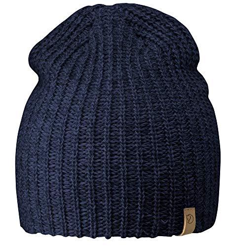 Fjällräven Övik Melange Beanie Hat, Navy, 1 Size