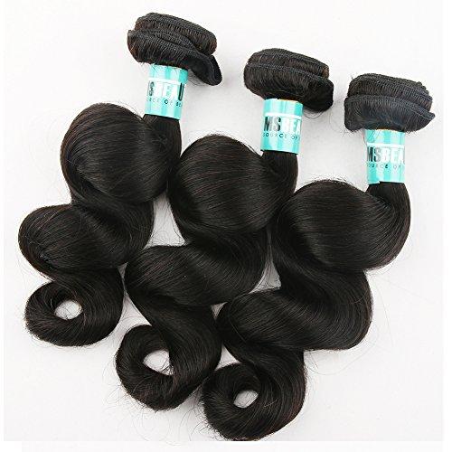 Msbeauty Cheveux brésiliens Remy de 25,4 cm à 76,2 cm - 3 trames de cheveux humains vierges non traités de qualité 5A - Longueur mixte (10 10 10) - Couleur naturelle - Ne s'emmêlent pas