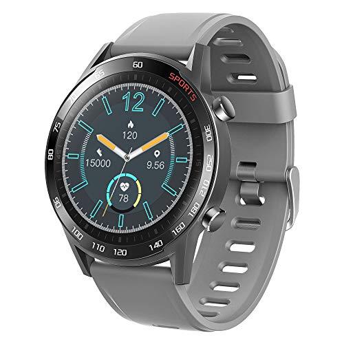 APCHY 2021 Nuevo Smartwatch Reloj Inteligente,Rastreador De Actividad Física con Oxígeno En Sangre, Presión Arterial, Monitor De Frecuencia Cardíaca, Contador De Pasos De Calorías,Gris