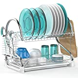 Best Dish Rack For Drying - Dish Drying Rack, Veckle 2 Tier Dish Rack Review