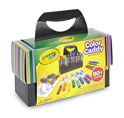 Crayola Color Caddy, Art Set Craft Supplies, Gift for Kids from Binney & Smith