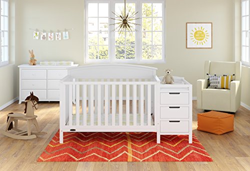 Graco Benton 5 in 1 Convertible Crib and Changer - White